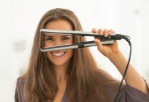 Düzleştirici ile yapılan saç modeli